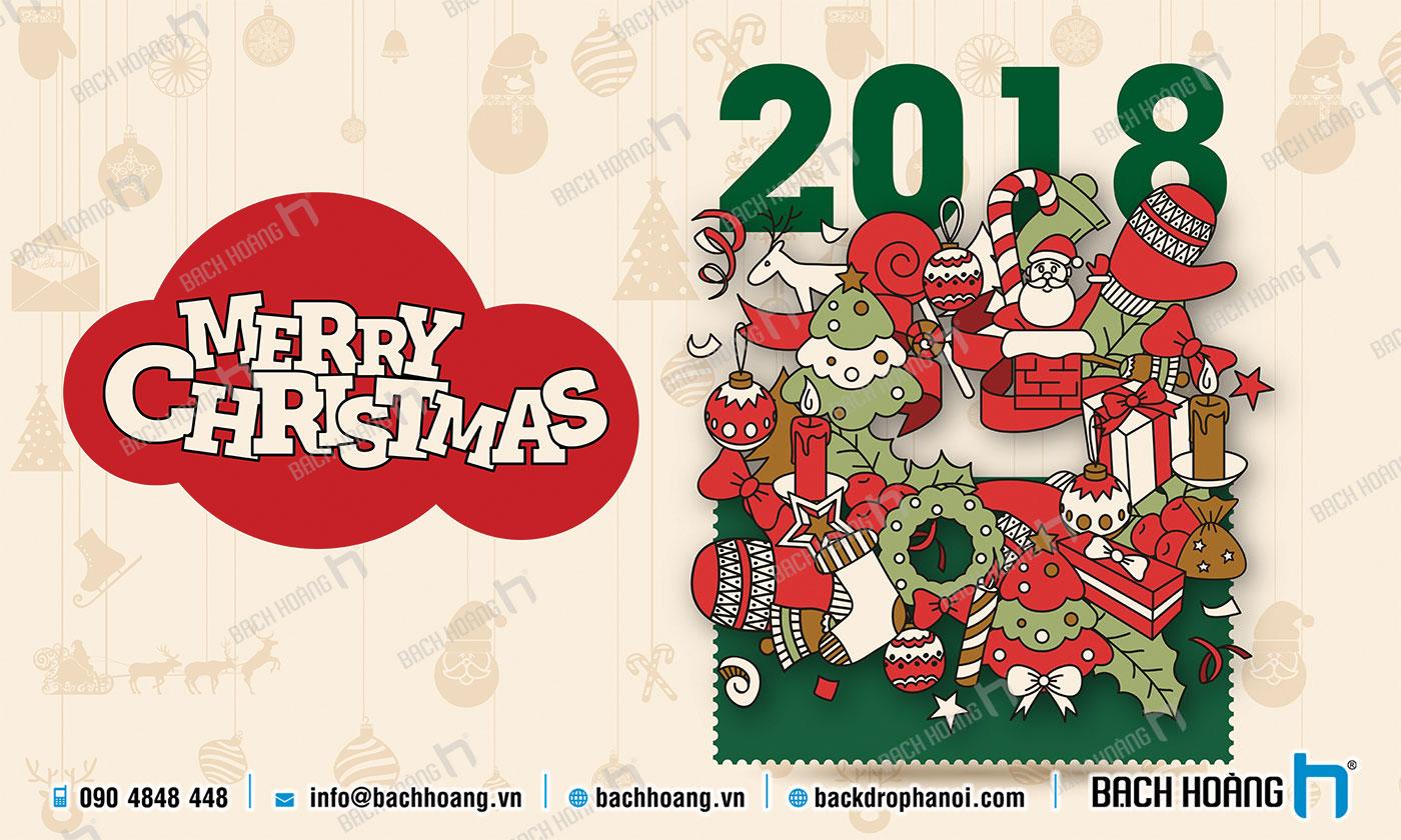 Thiết Kế Backdrop - Phông Noel Giáng Sinh Merry Christmas 41