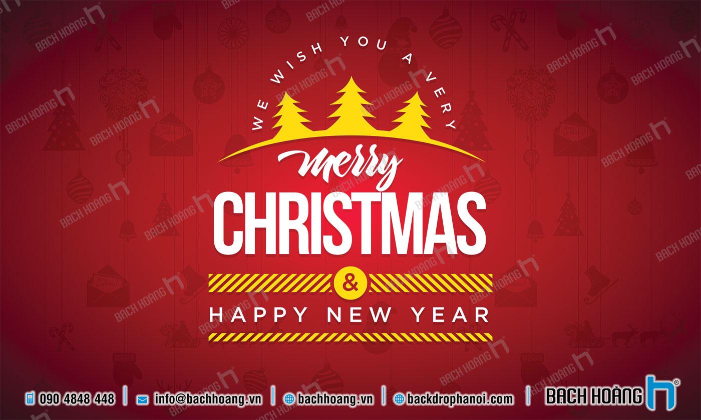 Thiết Kế Backdrop - Phông Noel Giáng Sinh Merry Christmas 42