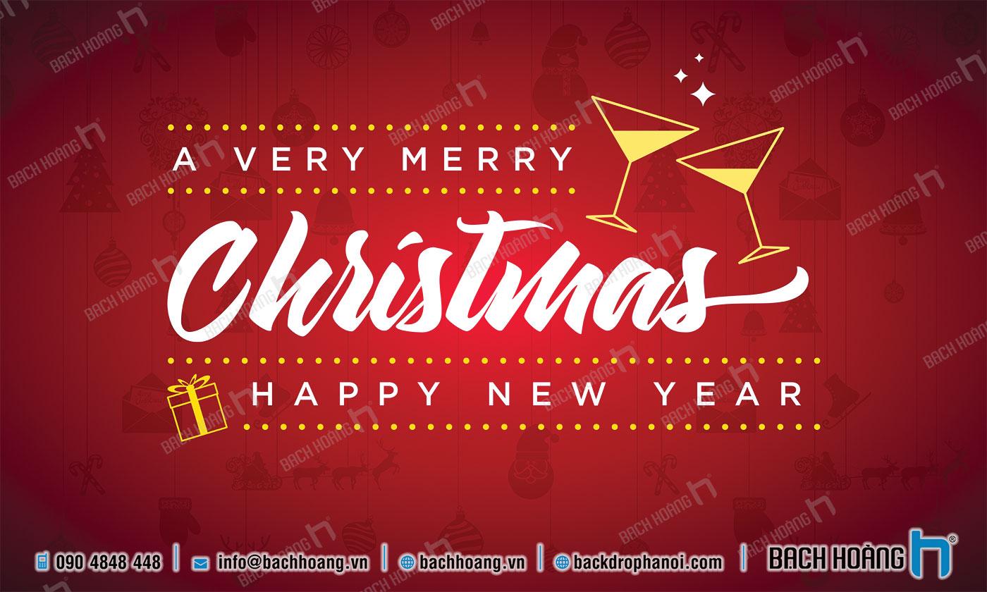 Thiết Kế Backdrop - Phông Noel Giáng Sinh Merry Christmas 43