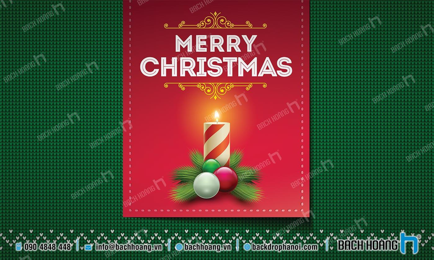 Thiết Kế Backdrop - Phông Noel Giáng Sinh Merry Christmas 44