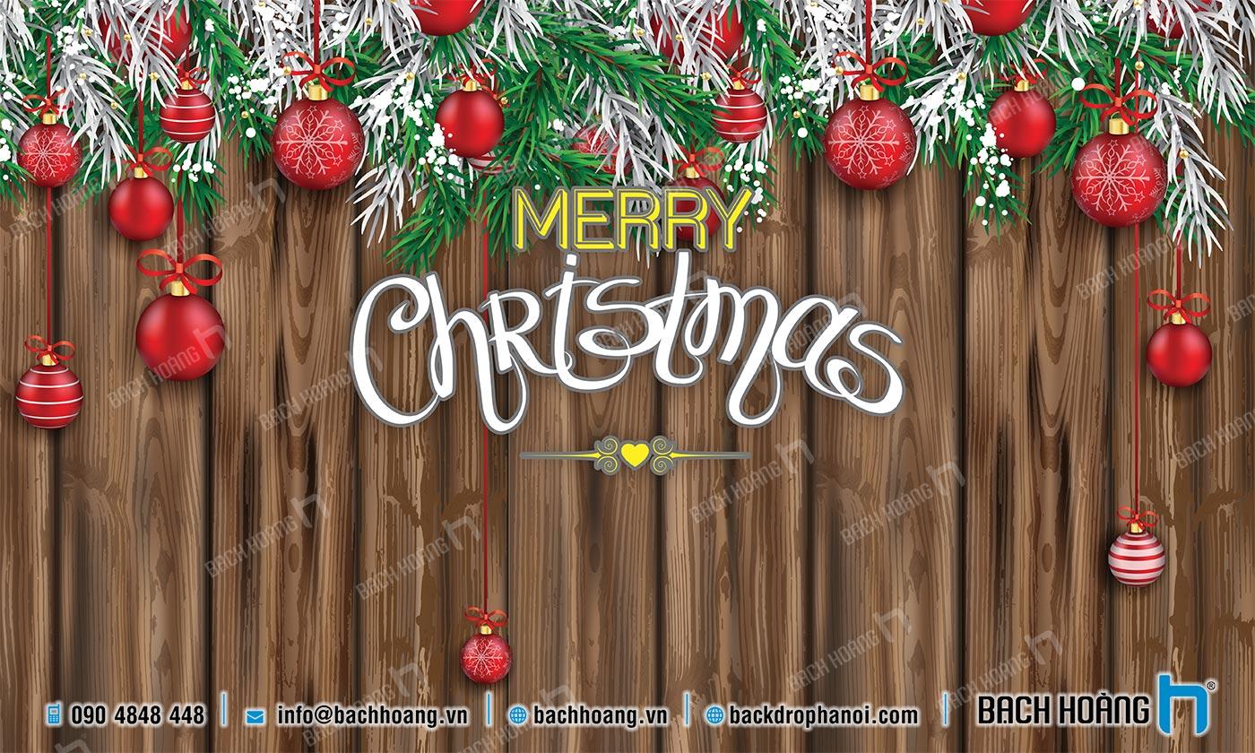 Thiết Kế Backdrop - Phông Noel Giáng Sinh Merry Christmas 45