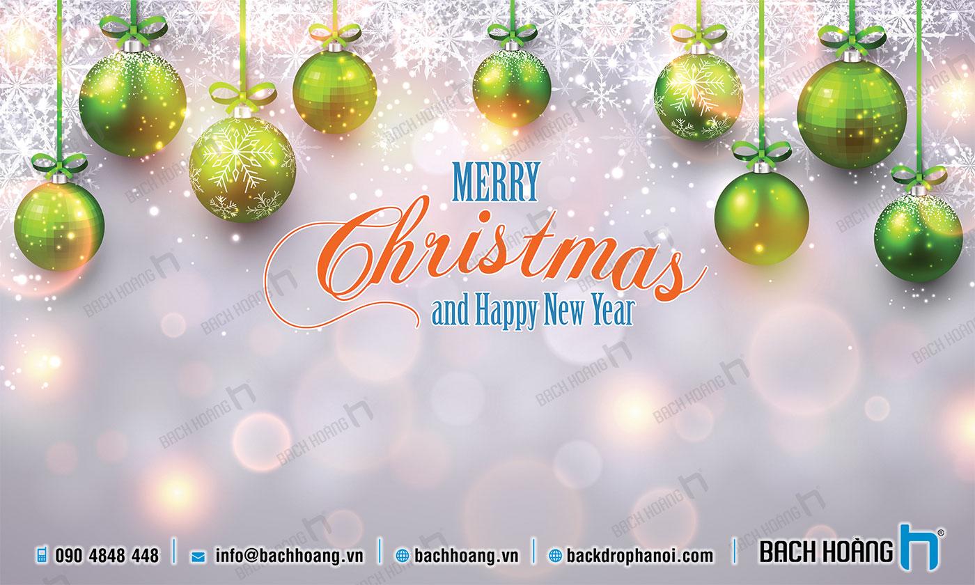 Thiết Kế Backdrop - Phông Noel Giáng Sinh Merry Christmas 47