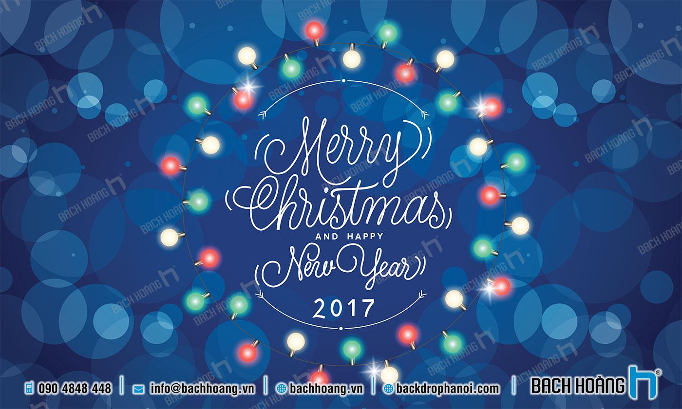Thiết Kế Backdrop - Phông Noel Giáng Sinh Merry Christmas 48