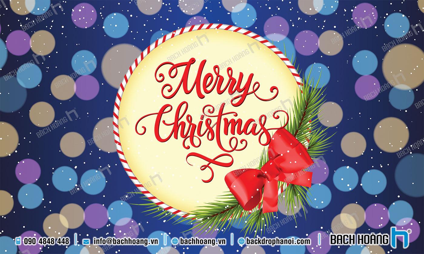 Thiết Kế Backdrop - Phông Noel Giáng Sinh Merry Christmas 49