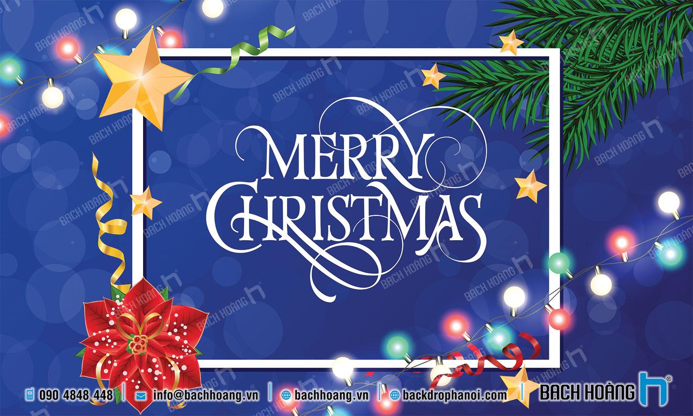 Thiết Kế Backdrop - Phông Noel Giáng Sinh Merry Christmas 50