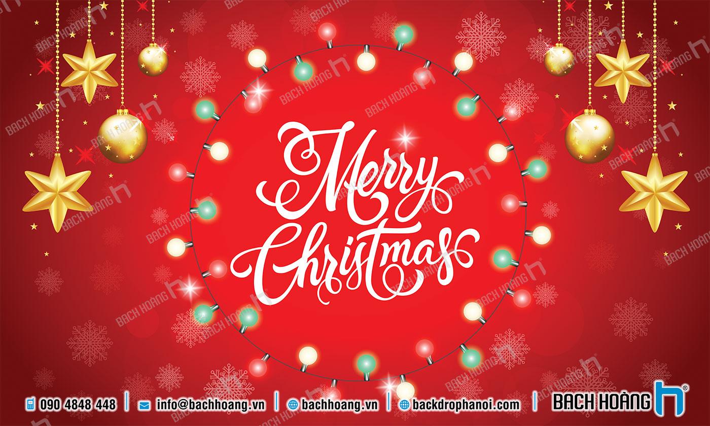 Thiết Kế Backdrop - Phông Noel Giáng Sinh Merry Christmas 51