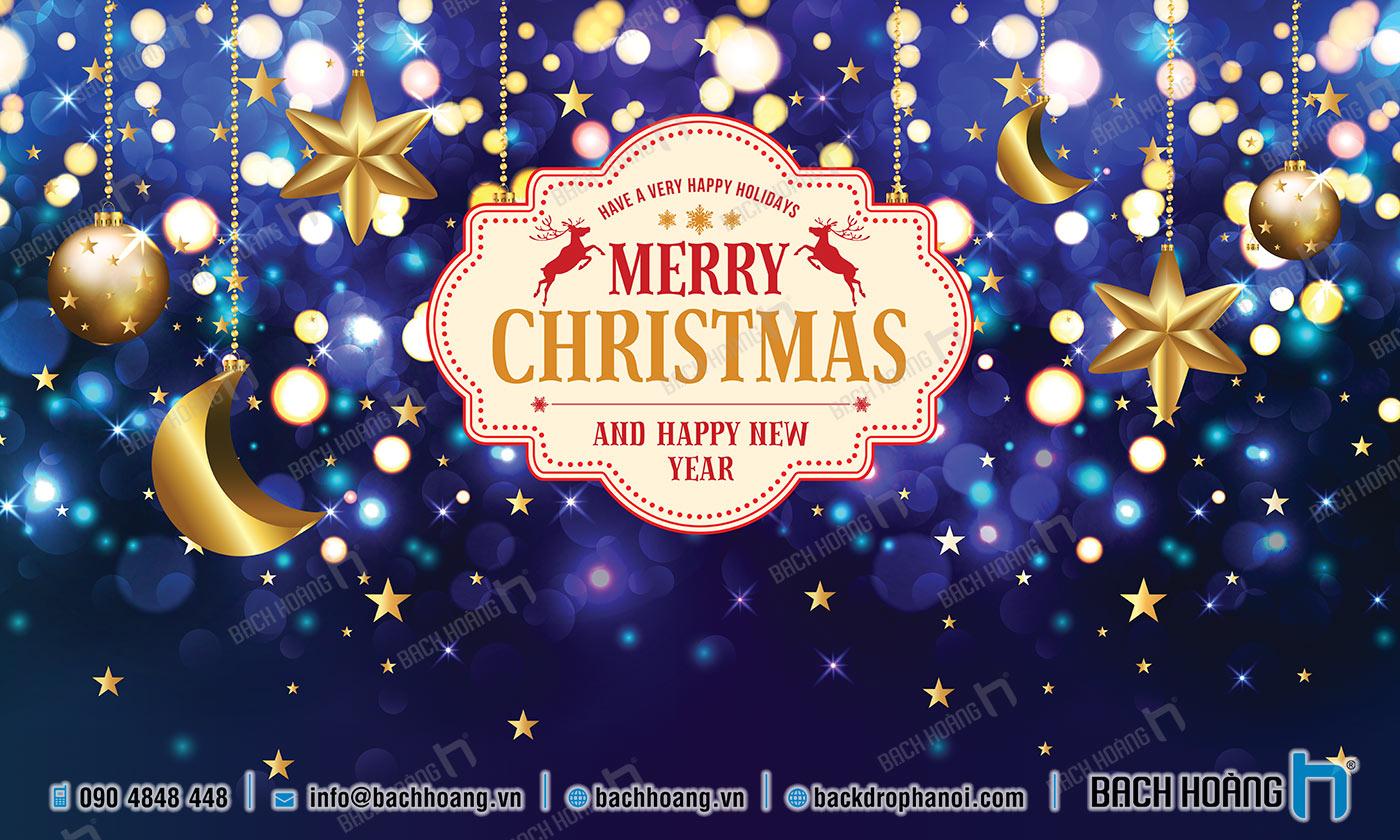 Thiết Kế Backdrop - Phông Noel Giáng Sinh Merry Christmas 52