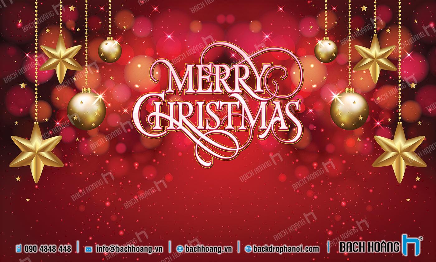 Thiết Kế Backdrop - Phông Noel Giáng Sinh Merry Christmas 53
