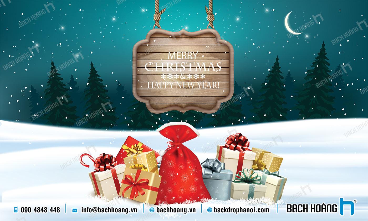 Thiết Kế Backdrop - Phông Noel Giáng Sinh Merry Christmas 55