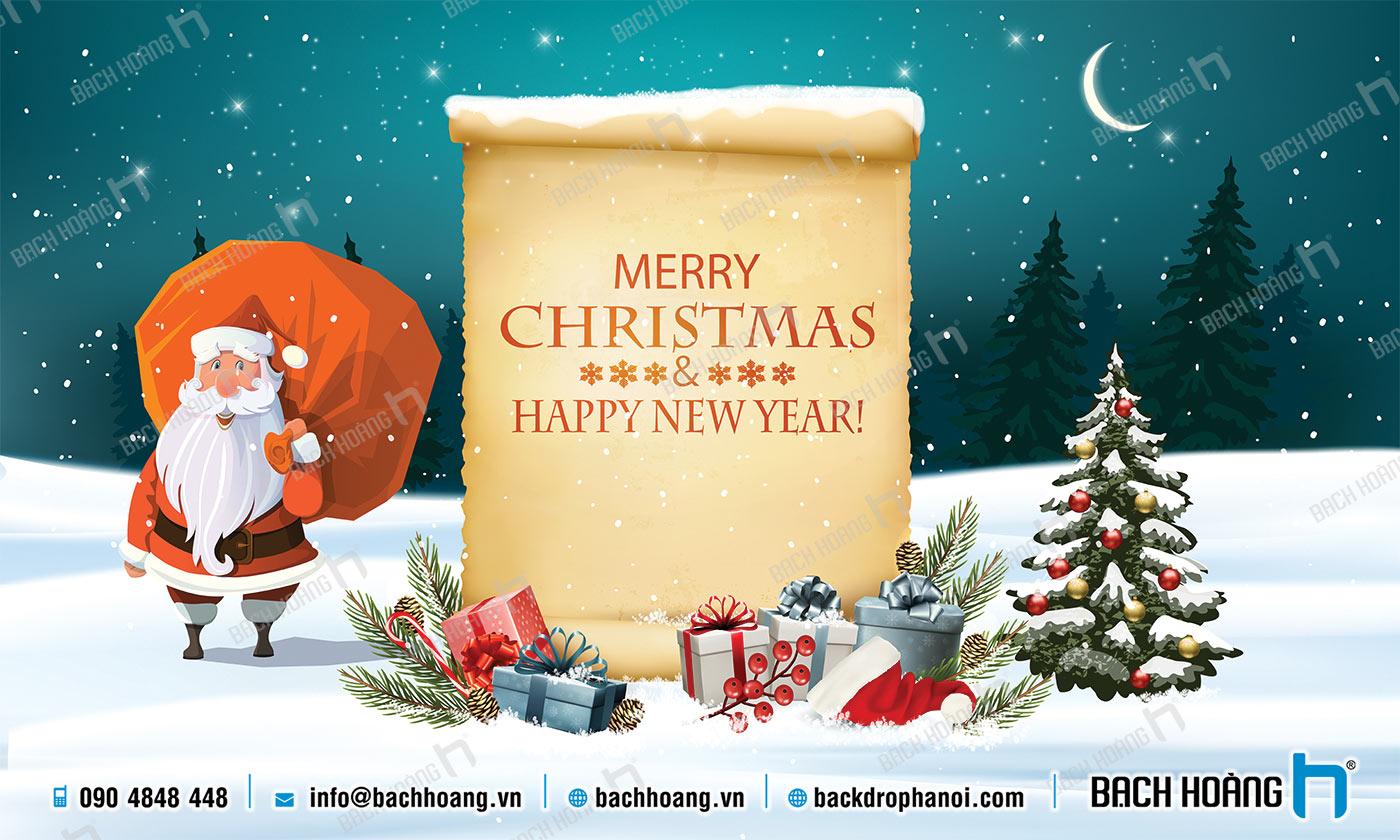 Thiết Kế Backdrop - Phông Noel Giáng Sinh Merry Christmas 56