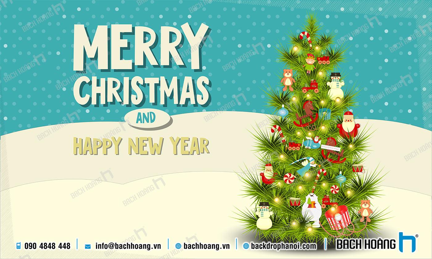 Thiết Kế Backdrop - Phông Noel Giáng Sinh Merry Christmas 57