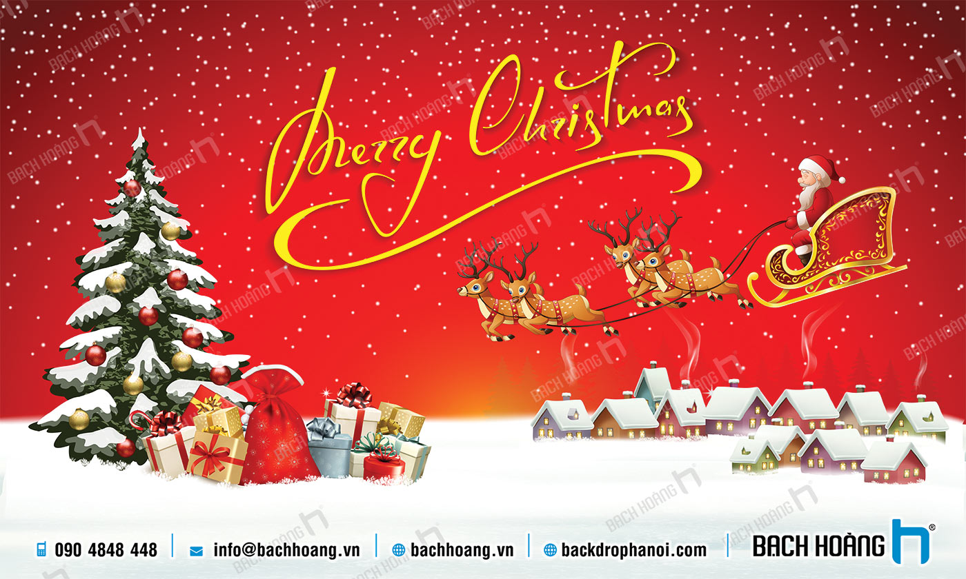 Thiết Kế Backdrop - Phông Noel Giáng Sinh Merry Christmas 58