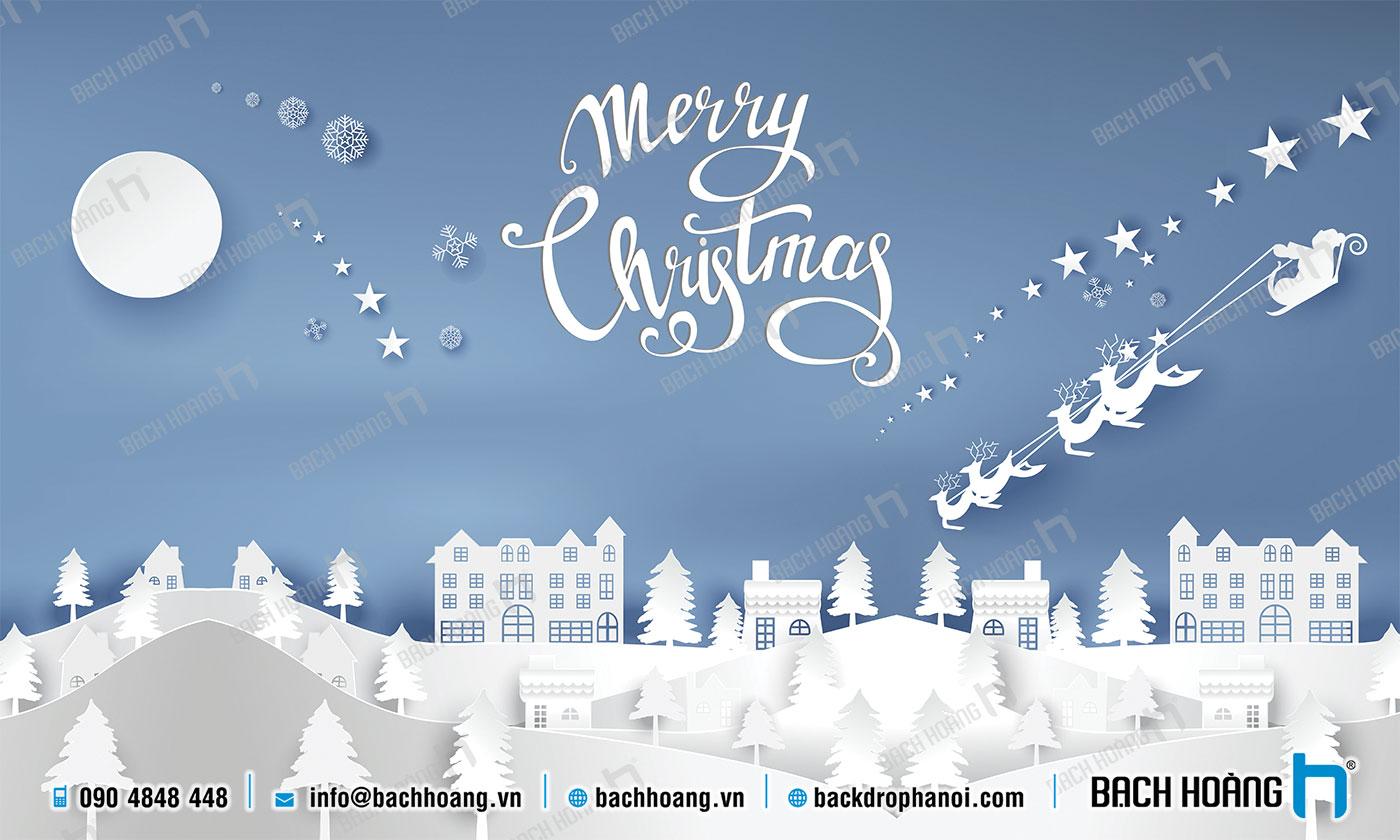 Thiết Kế Backdrop - Phông Noel Giáng Sinh Merry Christmas 59