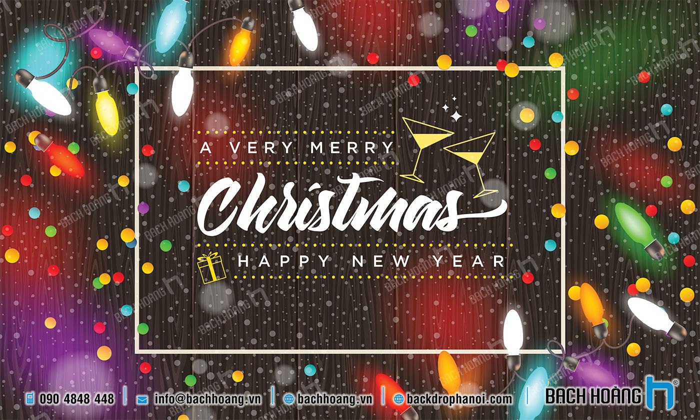 Thiết Kế Backdrop - Phông Noel Giáng Sinh Merry Christmas 61