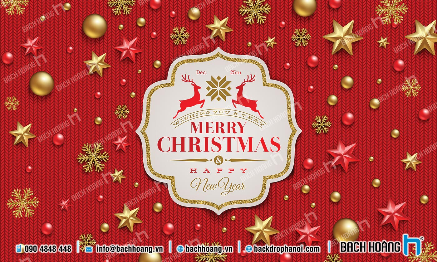 Thiết Kế Backdrop - Phông Noel Giáng Sinh Merry Christmas 62