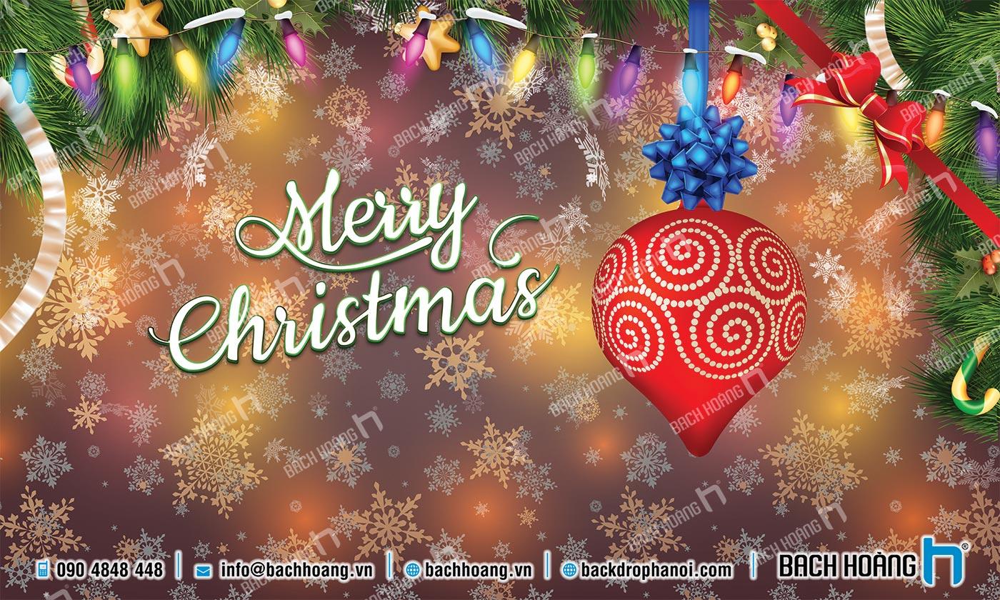Thiết Kế Backdrop - Phông Noel Giáng Sinh Merry Christmas 63