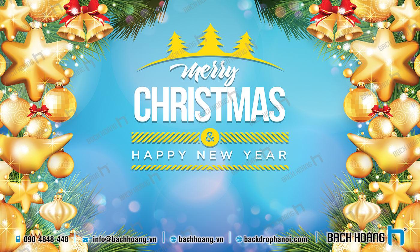 Thiết Kế Backdrop - Phông Noel Giáng Sinh Merry Christmas 65
