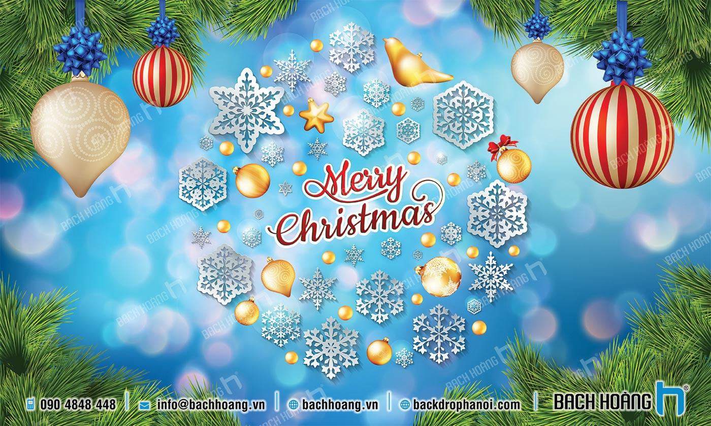 Thiết Kế Backdrop - Phông Noel Giáng Sinh Merry Christmas 66