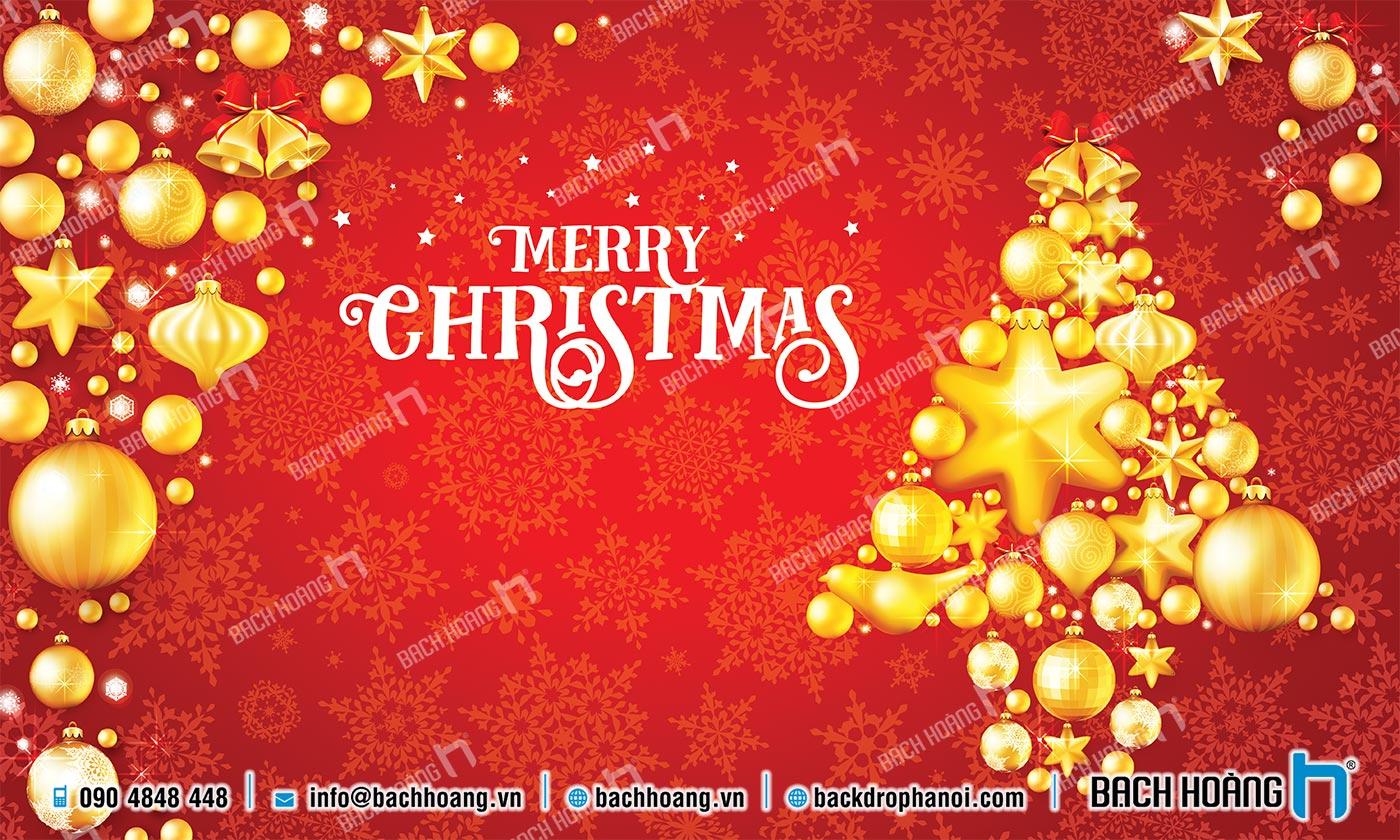 Thiết Kế Backdrop - Phông Noel Giáng Sinh Merry Christmas 67