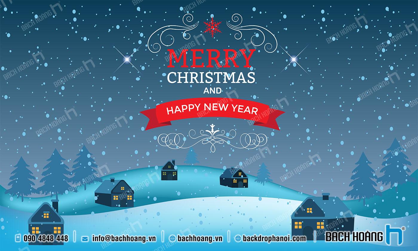 Thiết Kế Backdrop - Phông Noel Giáng Sinh Merry Christmas 68