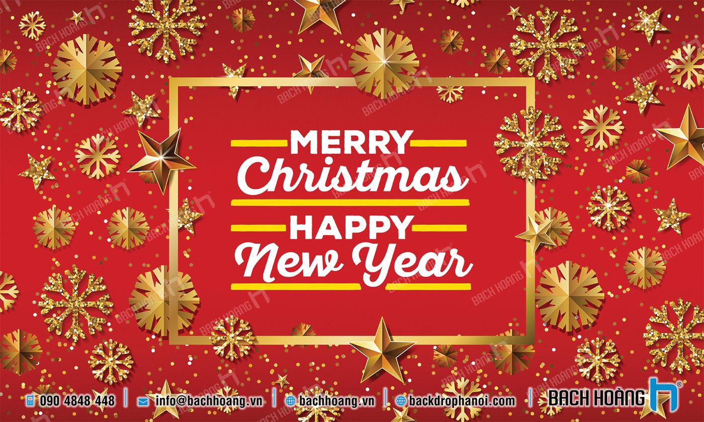 Thiết Kế Backdrop - Phông Noel Giáng Sinh Merry Christmas 70
