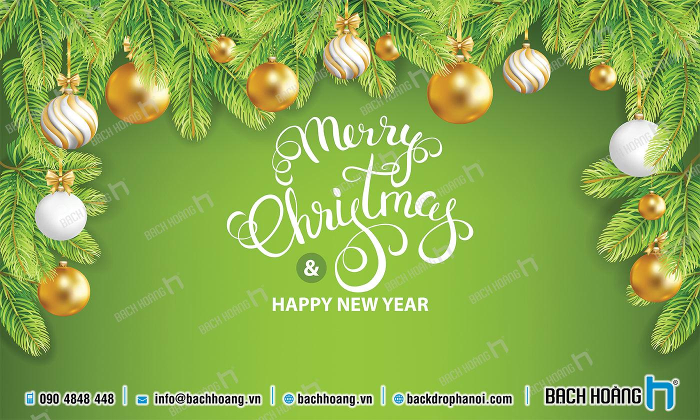 Thiết Kế Backdrop - Phông Noel Giáng Sinh Merry Christmas 72