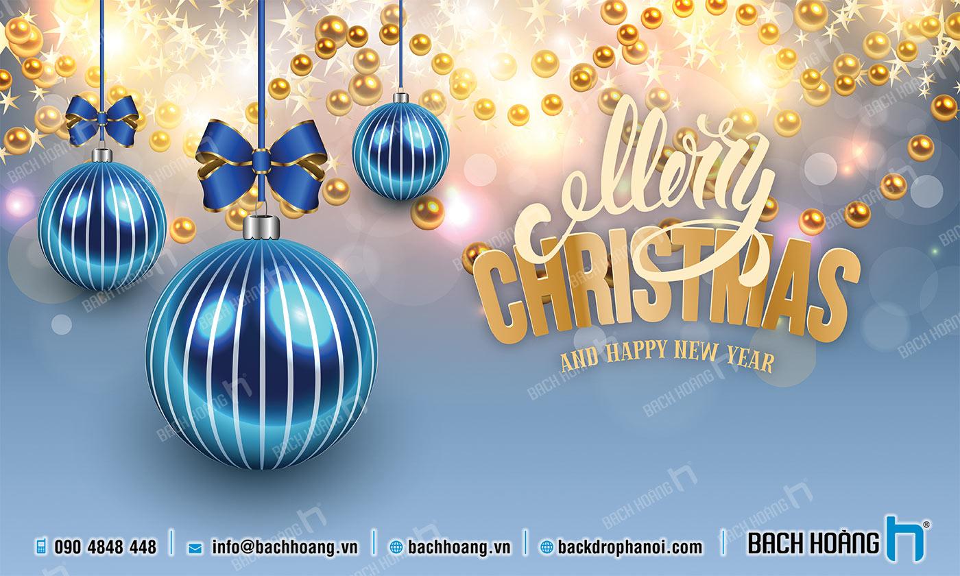 Thiết Kế Backdrop - Phông Noel Giáng Sinh Merry Christmas 73