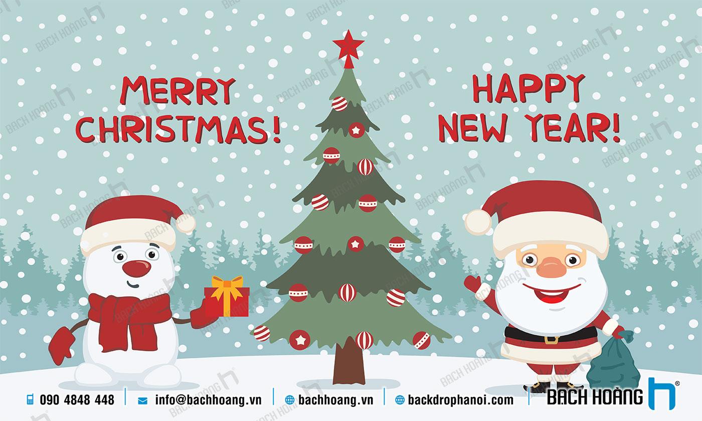 Thiết Kế Backdrop - Phông Noel Giáng Sinh Merry Christmas 74