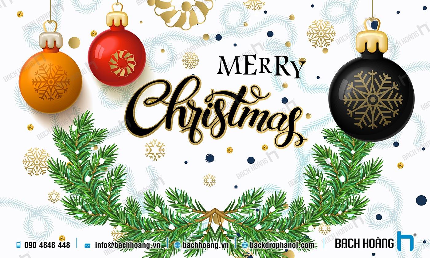Thiết Kế Backdrop - Phông Noel Giáng Sinh Merry Christmas 75