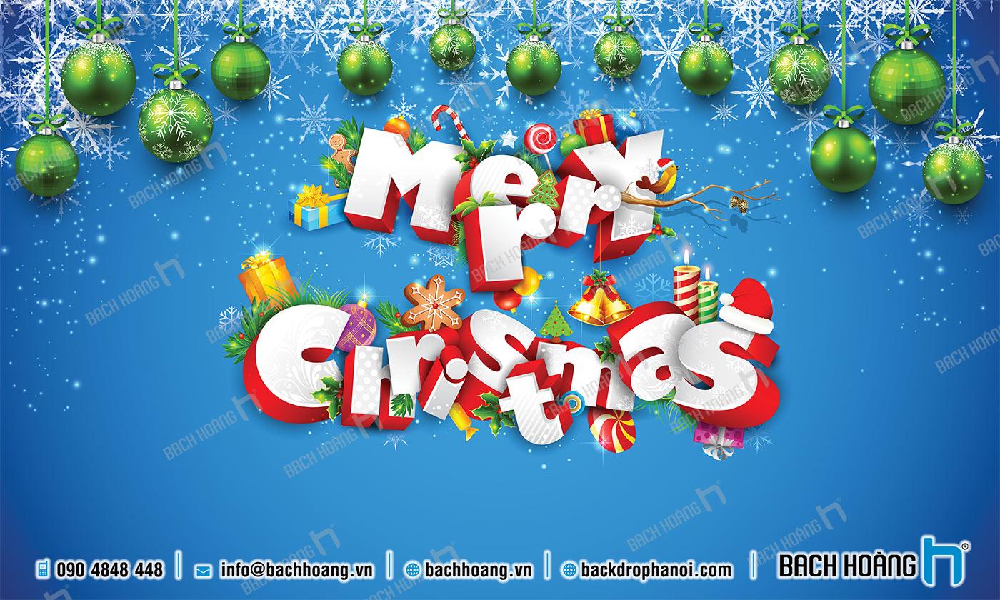 Thiết Kế Backdrop - Phông Noel Giáng Sinh Merry Christmas 77
