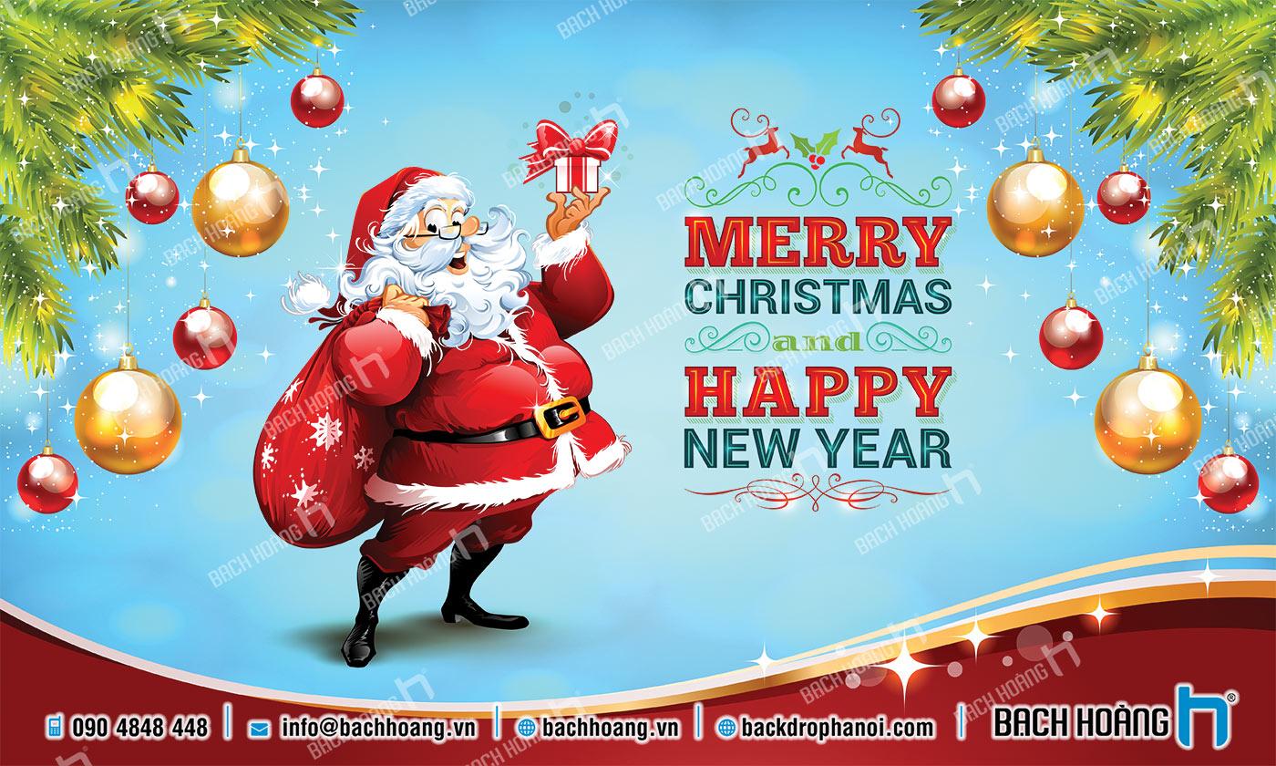 Thiết Kế Backdrop - Phông Noel Giáng Sinh Merry Christmas 78