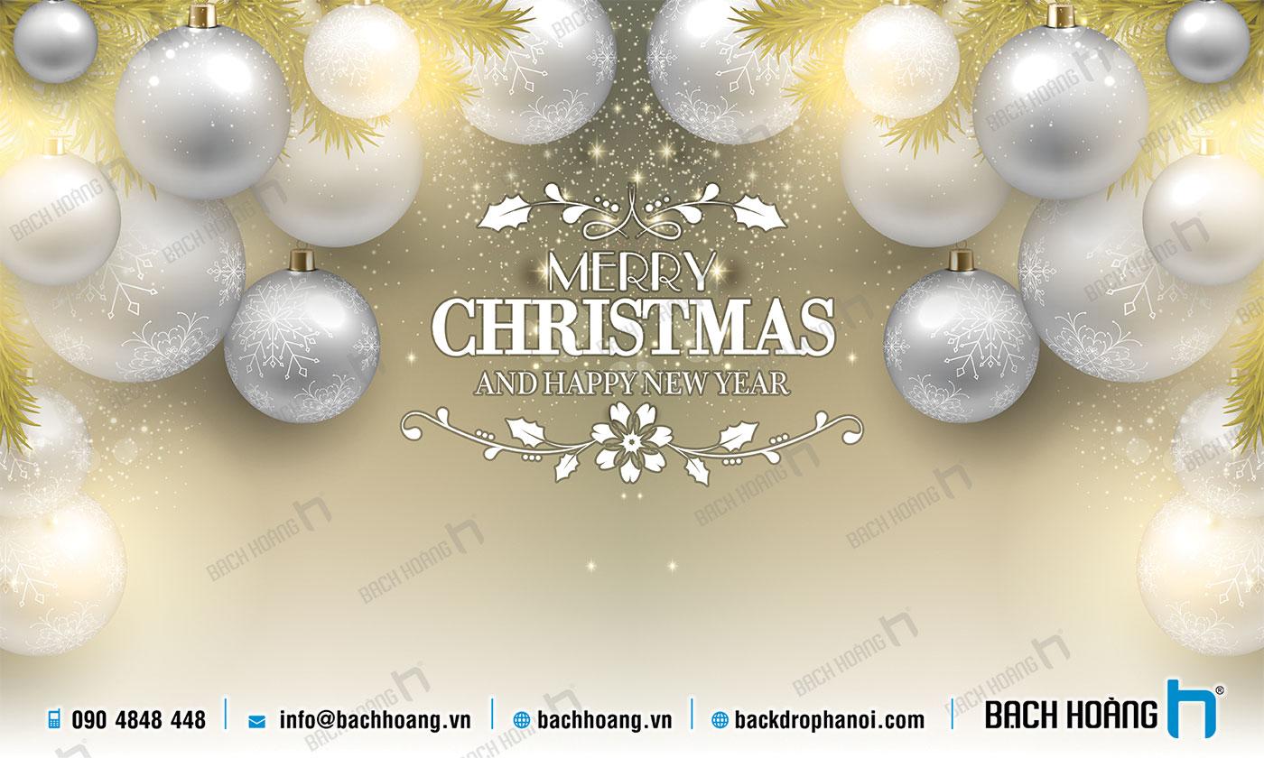 Thiết Kế Backdrop - Phông Noel Giáng Sinh Merry Christmas 79