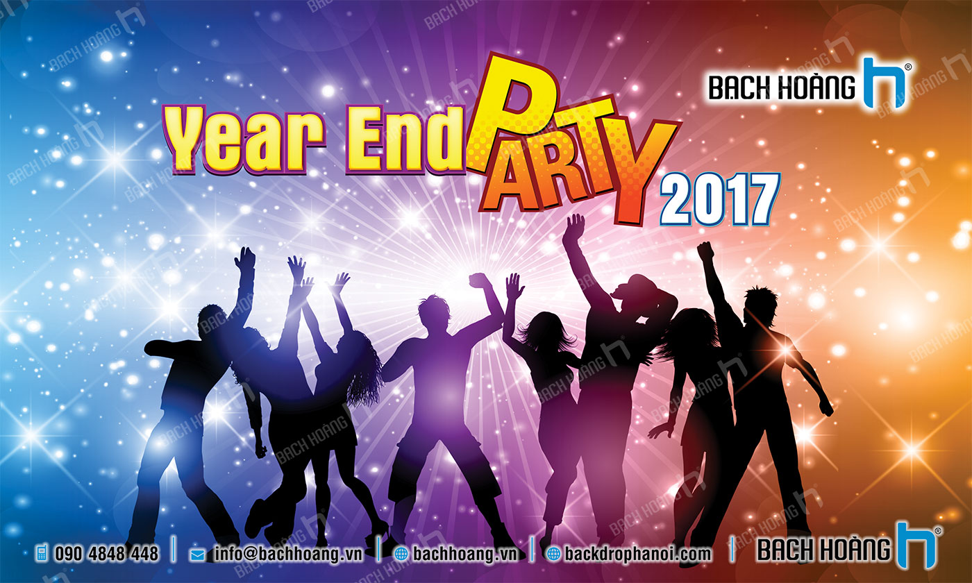 Thiết Kế Backdrop - Phông Year End Party 02
