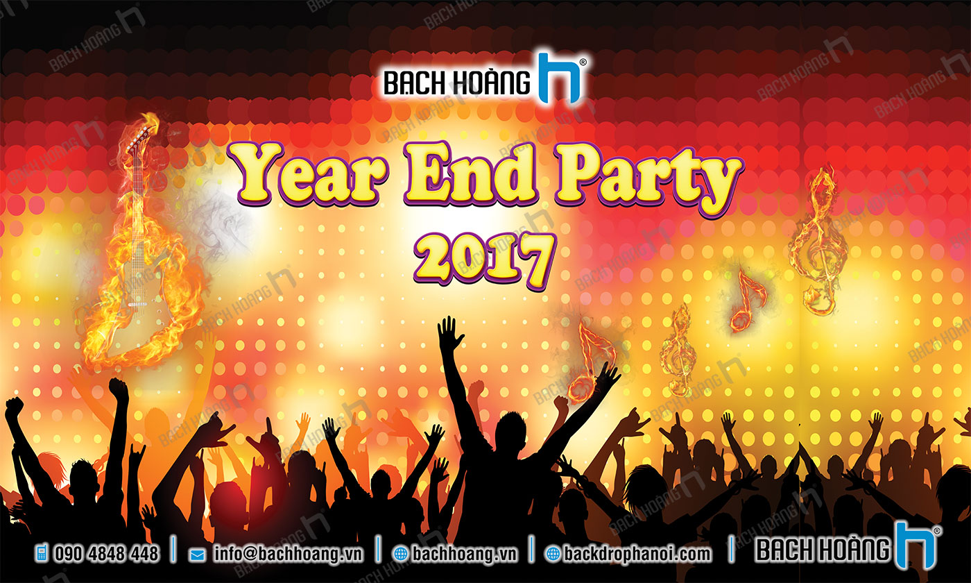 Thiết Kế Backdrop - Phông Year End Party 03
