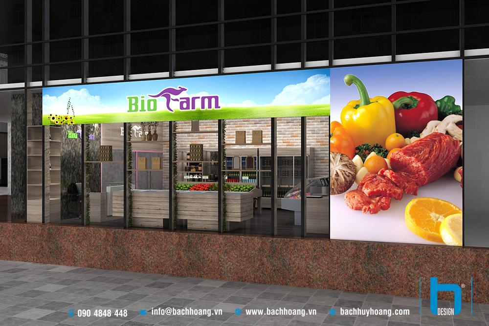 Thiết Kế Nội Thất Cửa Hàng BioFarm