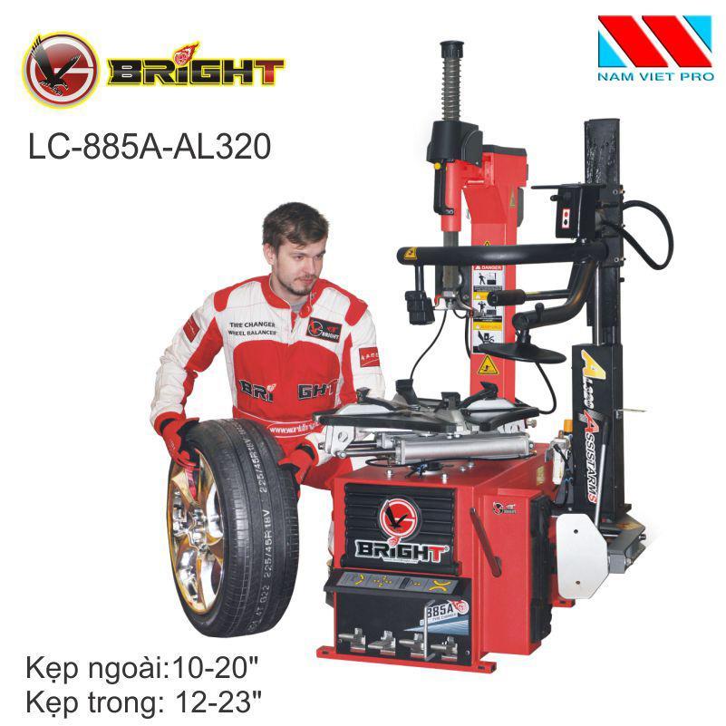 Máy ra vào lốp cần gật gù Bright LC-885A+320