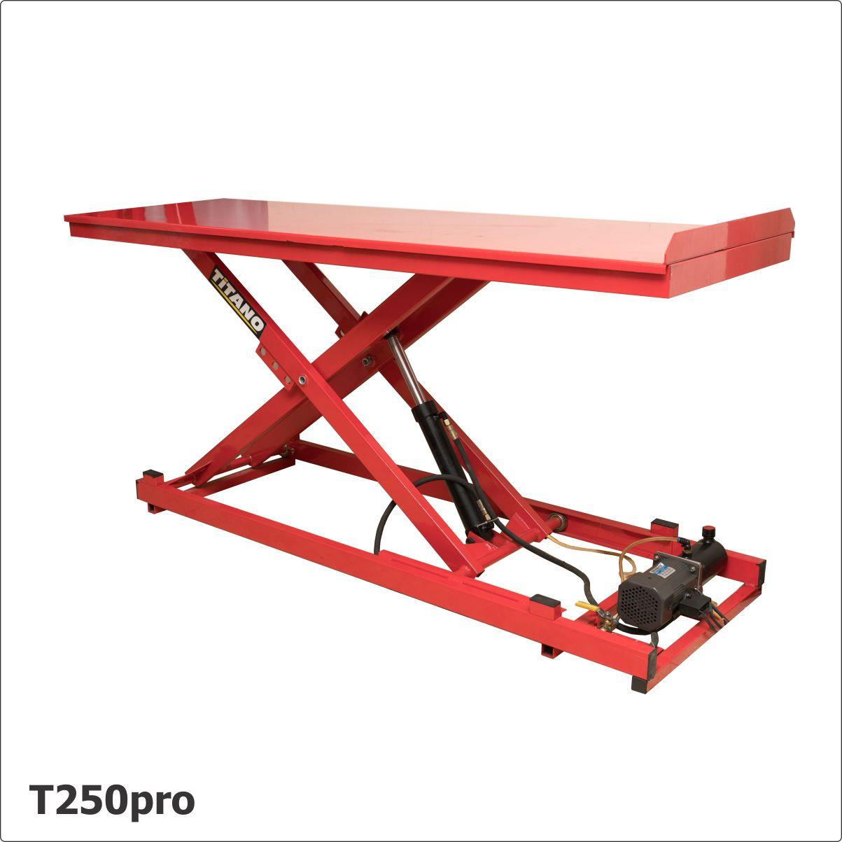 Cầu nâng xe máy, bàn nâng xe máy T250pro