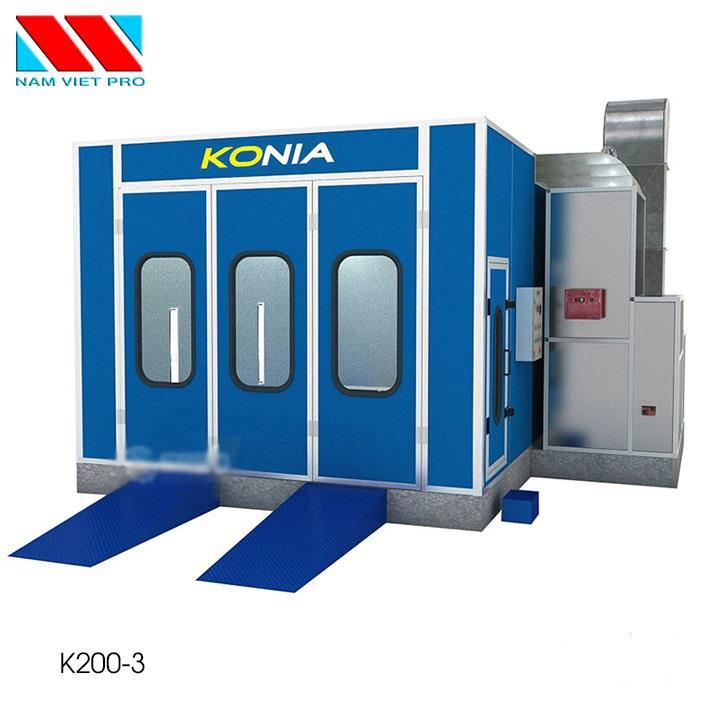 Phòng sơn ô tô Konia K200-3 - Sấy bằng hồng ngoại, 3 quạt