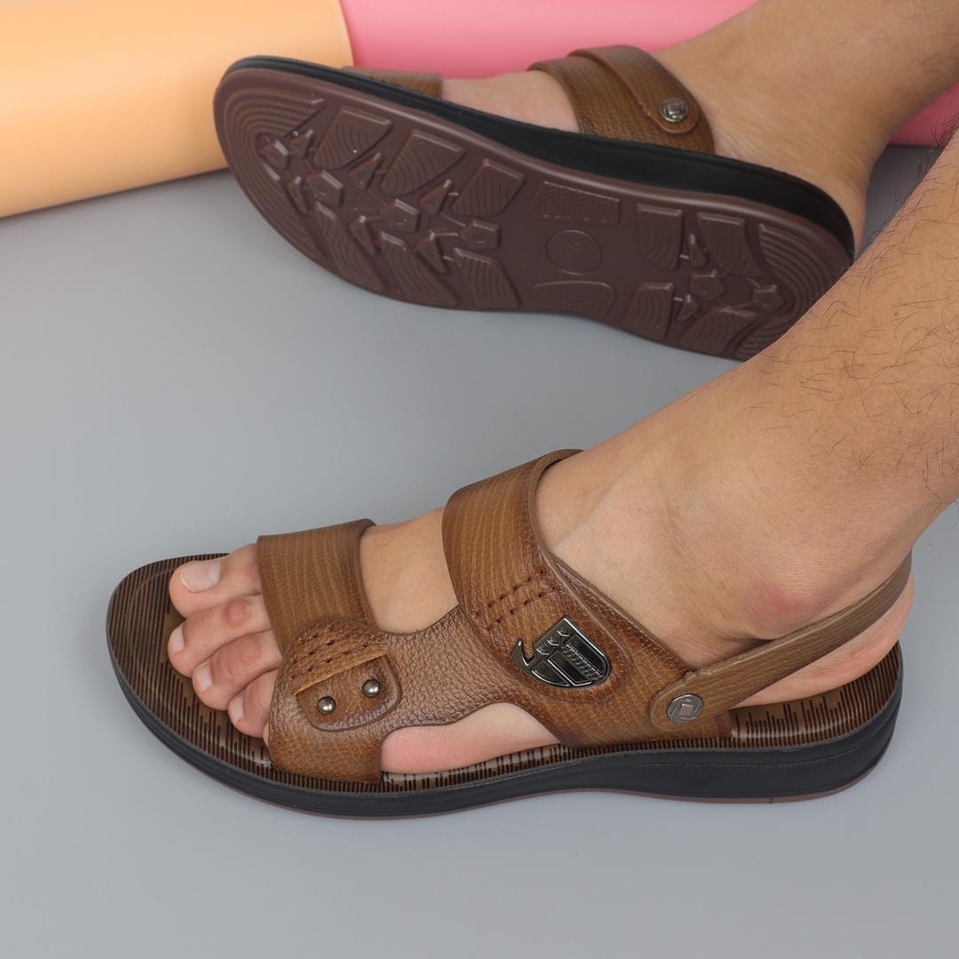 Sandals nam da bò đế cao 3,5cm