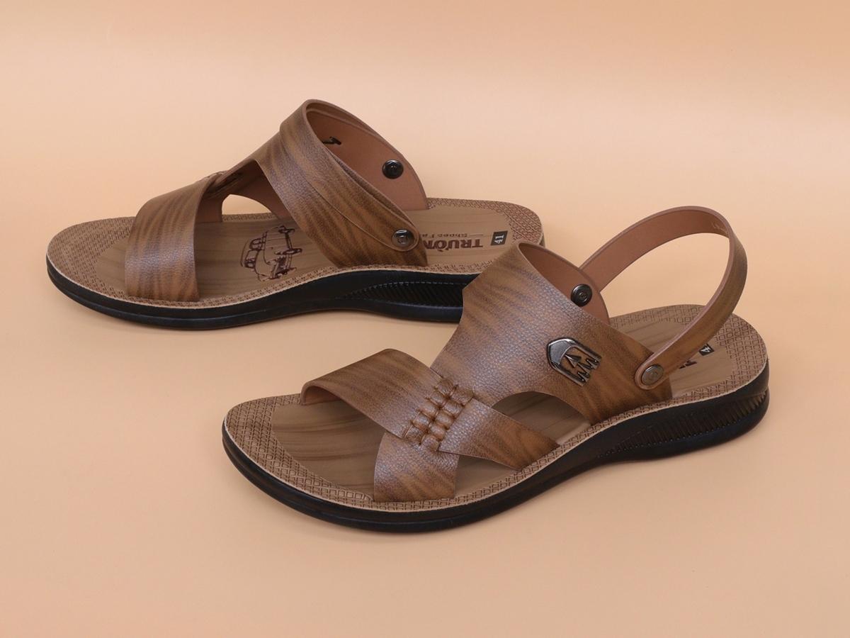 Sandal nam da bò đế cao