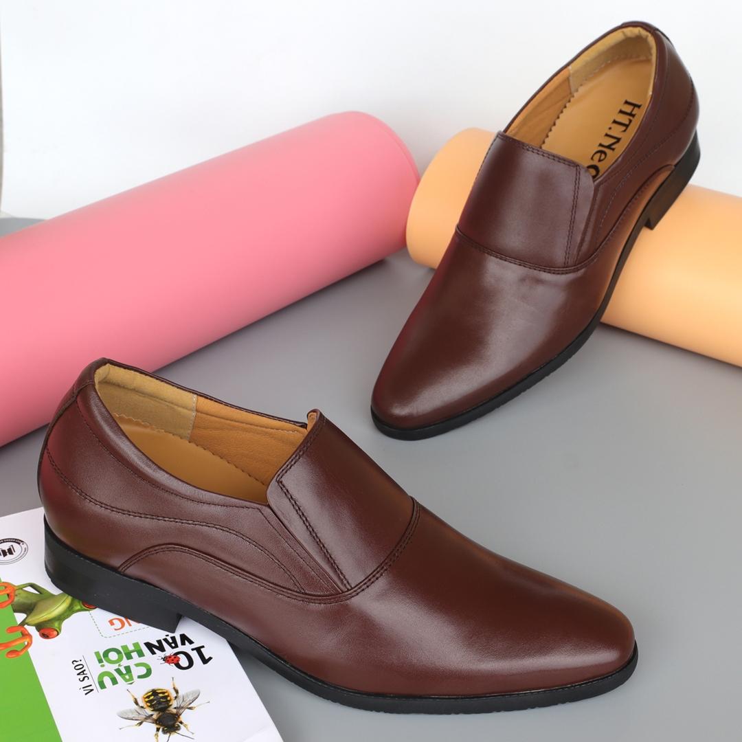 Giày lười nam da bò đế cao 7p