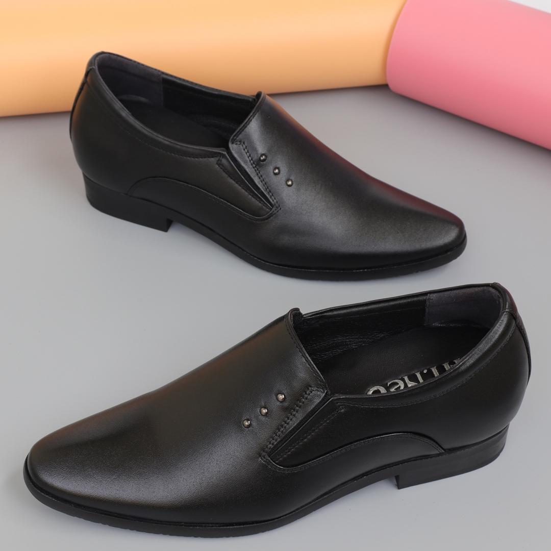 Giày lười nam độn đế da bò tăng chiều cao 7cm