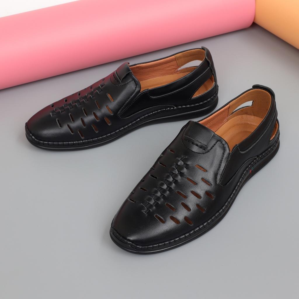 Giày lười nam thoáng khí da bò đẹp