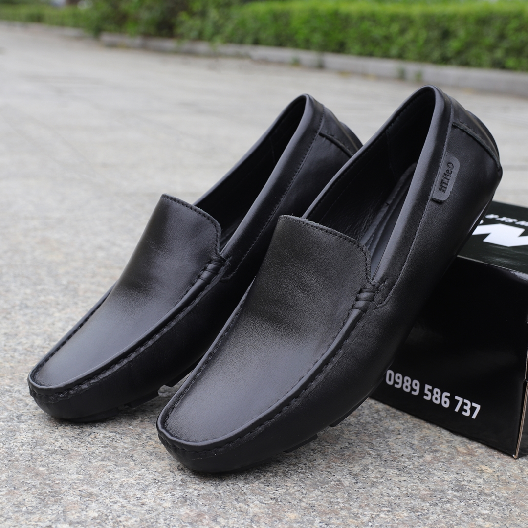 Giày mọi nam cao cấp da bò, đế cao su mềm may chắc chắn