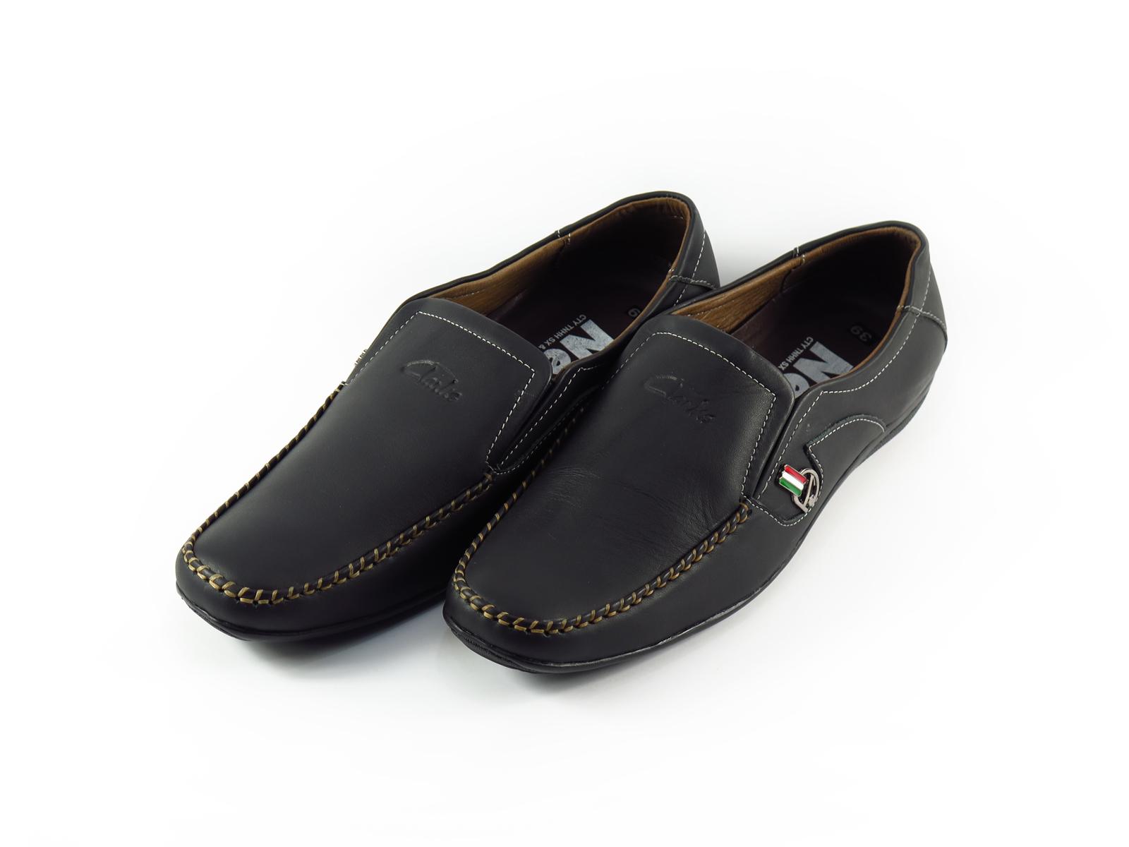 Giày mọi nam da bò thô