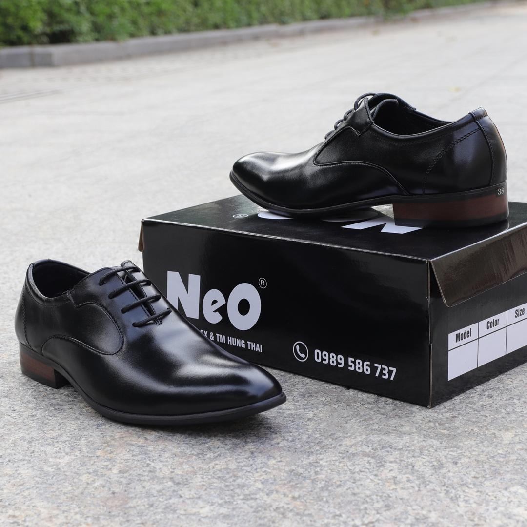 Giày tây da bò đế phíp cao cấp NeO