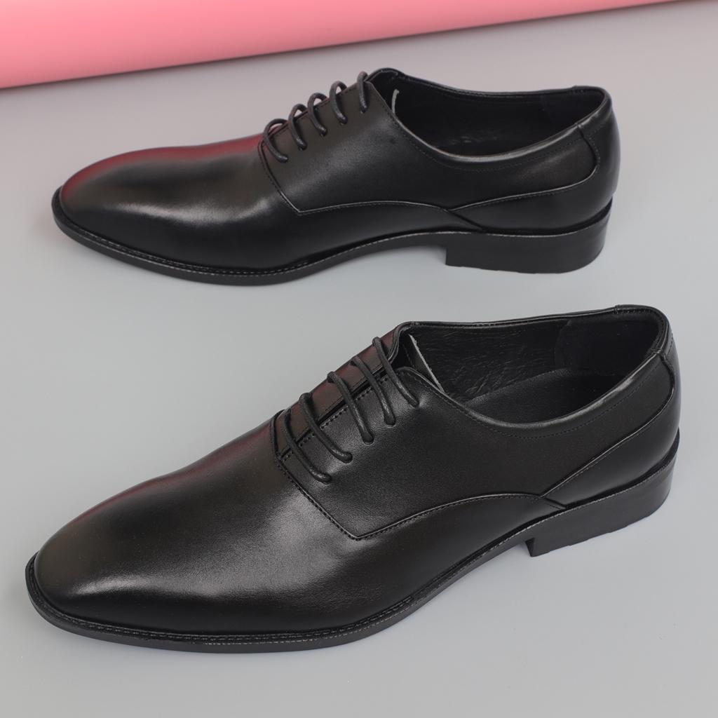 Giày tây da bò đế cao su