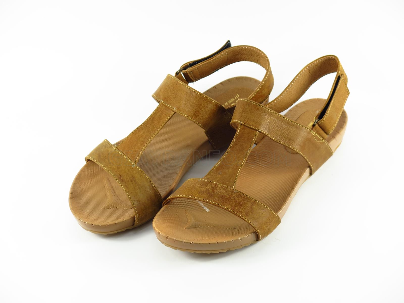 Sandal bệt da bò
