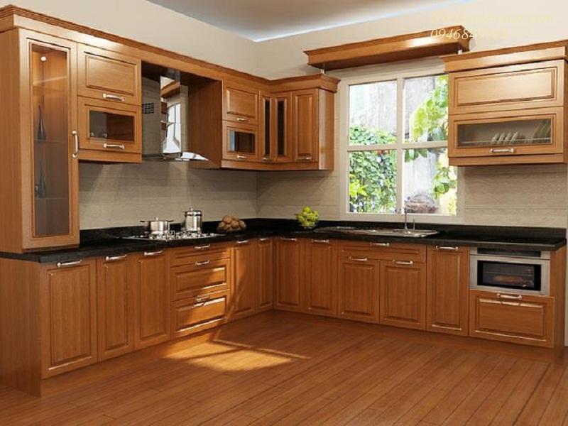 Tủ bếp đứng độc lập, sang trọng và tinh tế cho căn bếp thêm ấm áp
