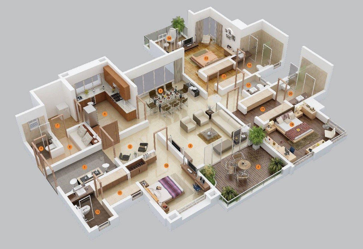 Mẫu căn hộ phù hợp với gia đình 3 thế hệ